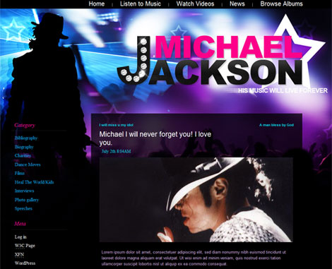 Michael Jackson WordPress Theme
