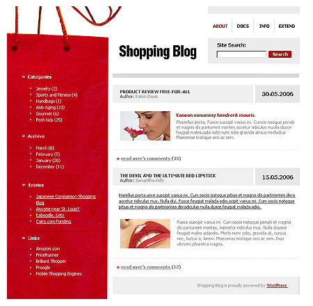 Shopping Theme for WordPress