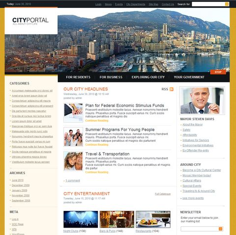 City WordPress Theme