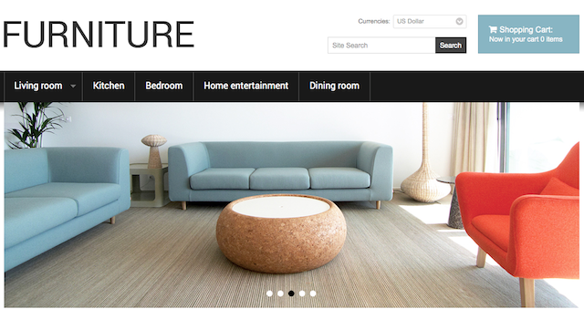 Furniture store oscommerce templates
