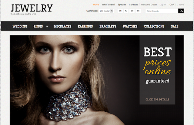 Jewelry store oscommerce template