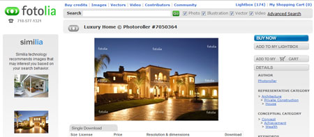 Fotolia Screenshot