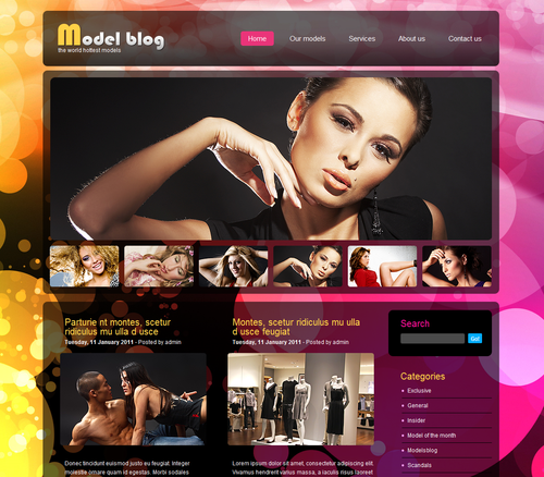 Girly WP Theme