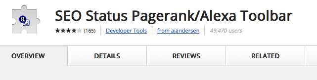 google chrome pagerank and alexarank