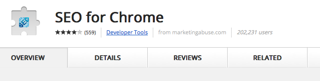 google chrome seo extension