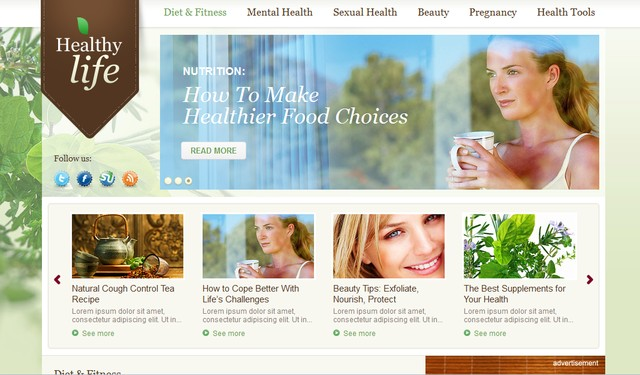 Healthy WP Theme