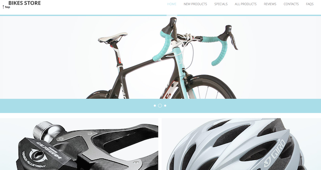 Bicycle e-commerce template