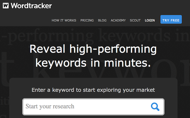 wordtracker - software for finding profitable keywords